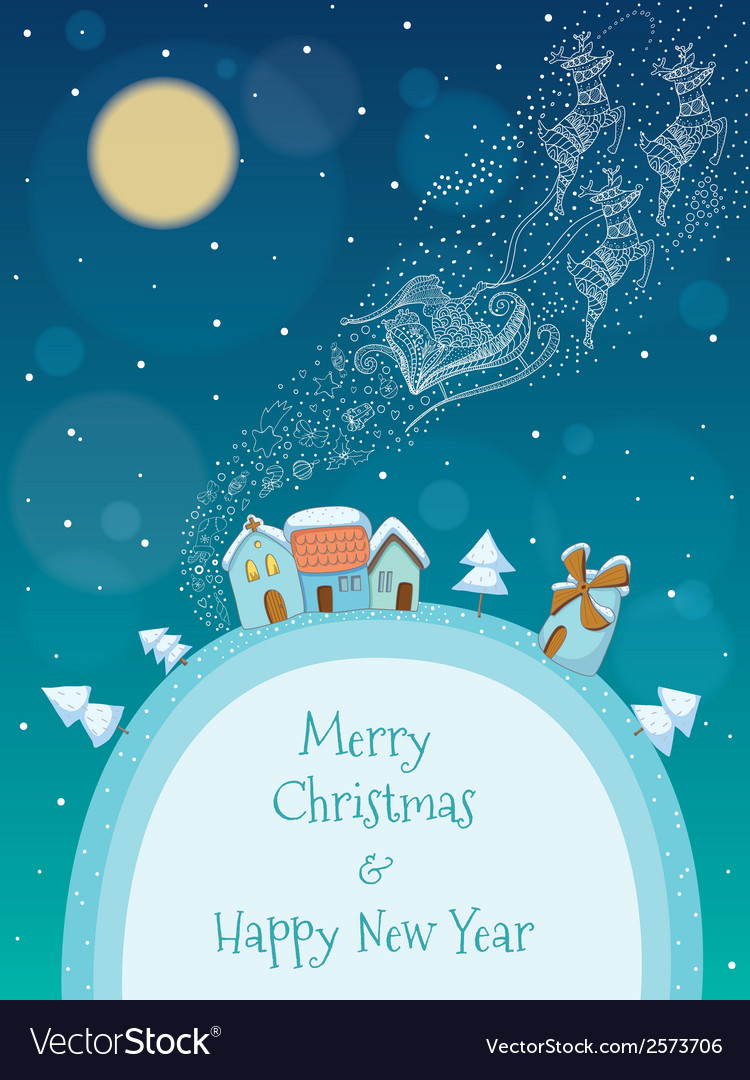 Christmas and New Year rhombus background with sno