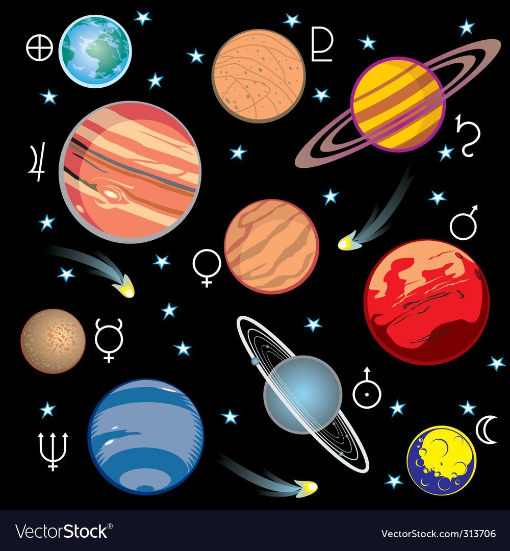 solar system vector - photo #5