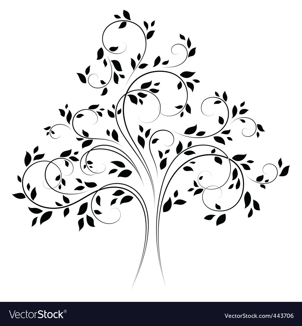 Vector tree 4 black