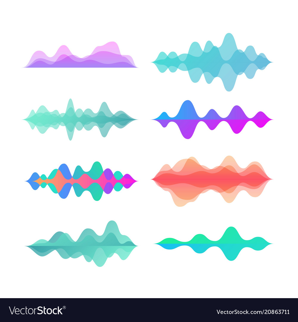 Amplitude color motion waves abstract electronic
