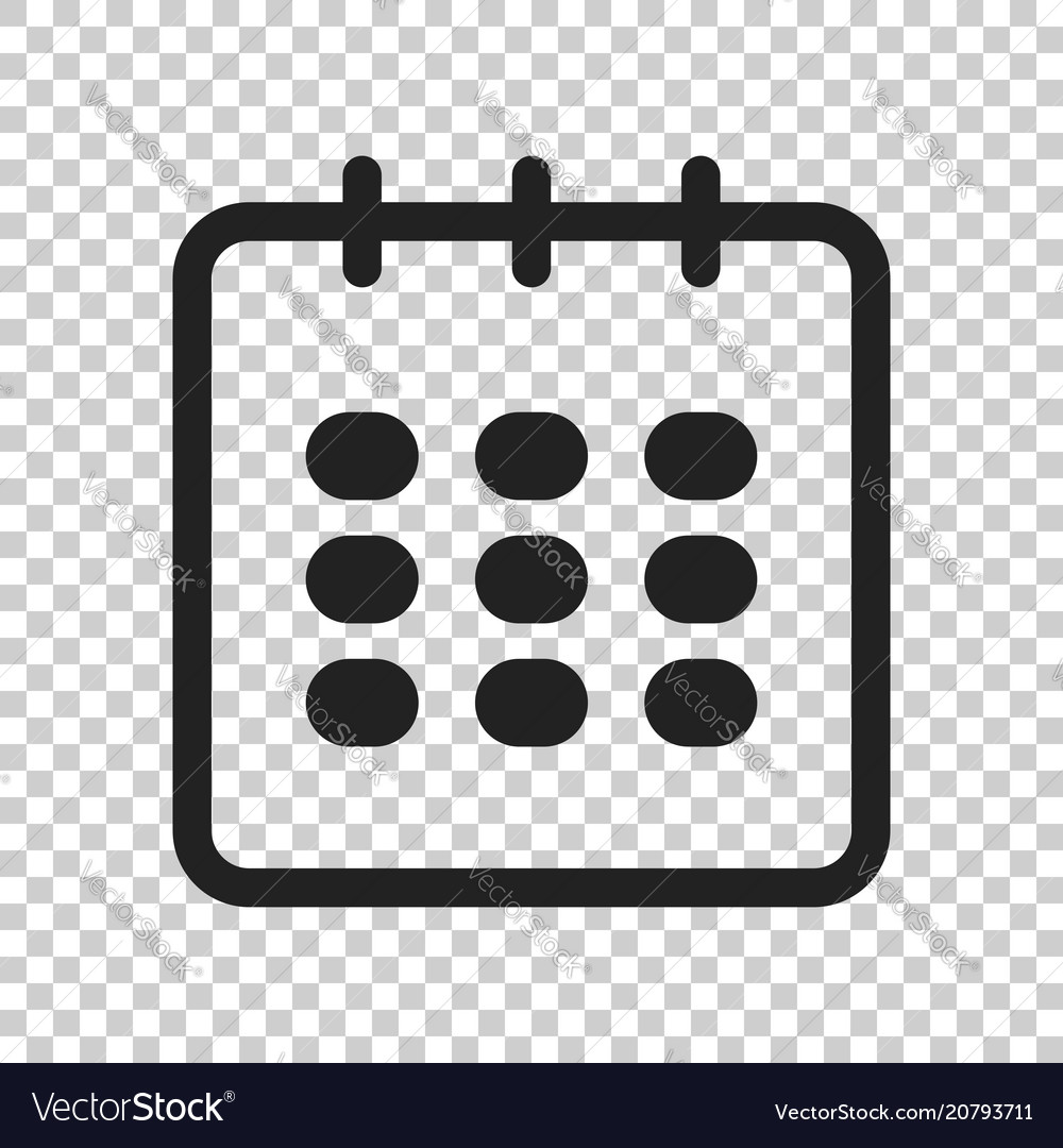 Calendar agenda icon in flat style reminder on