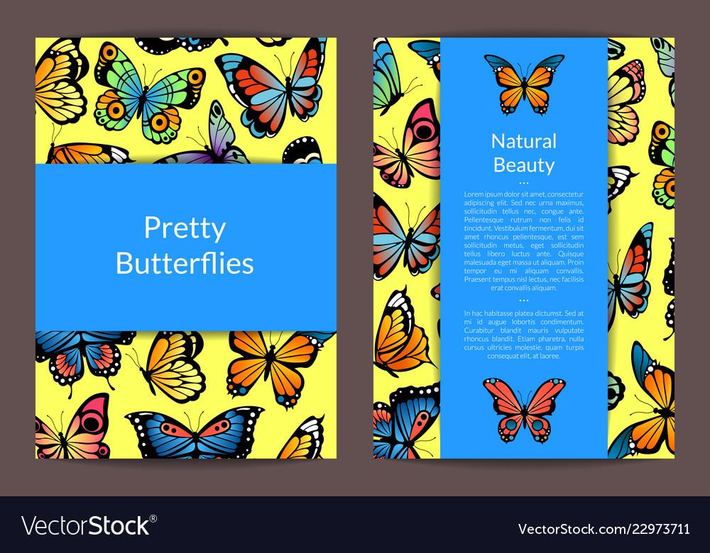 Decorative butterflies card or flyer
