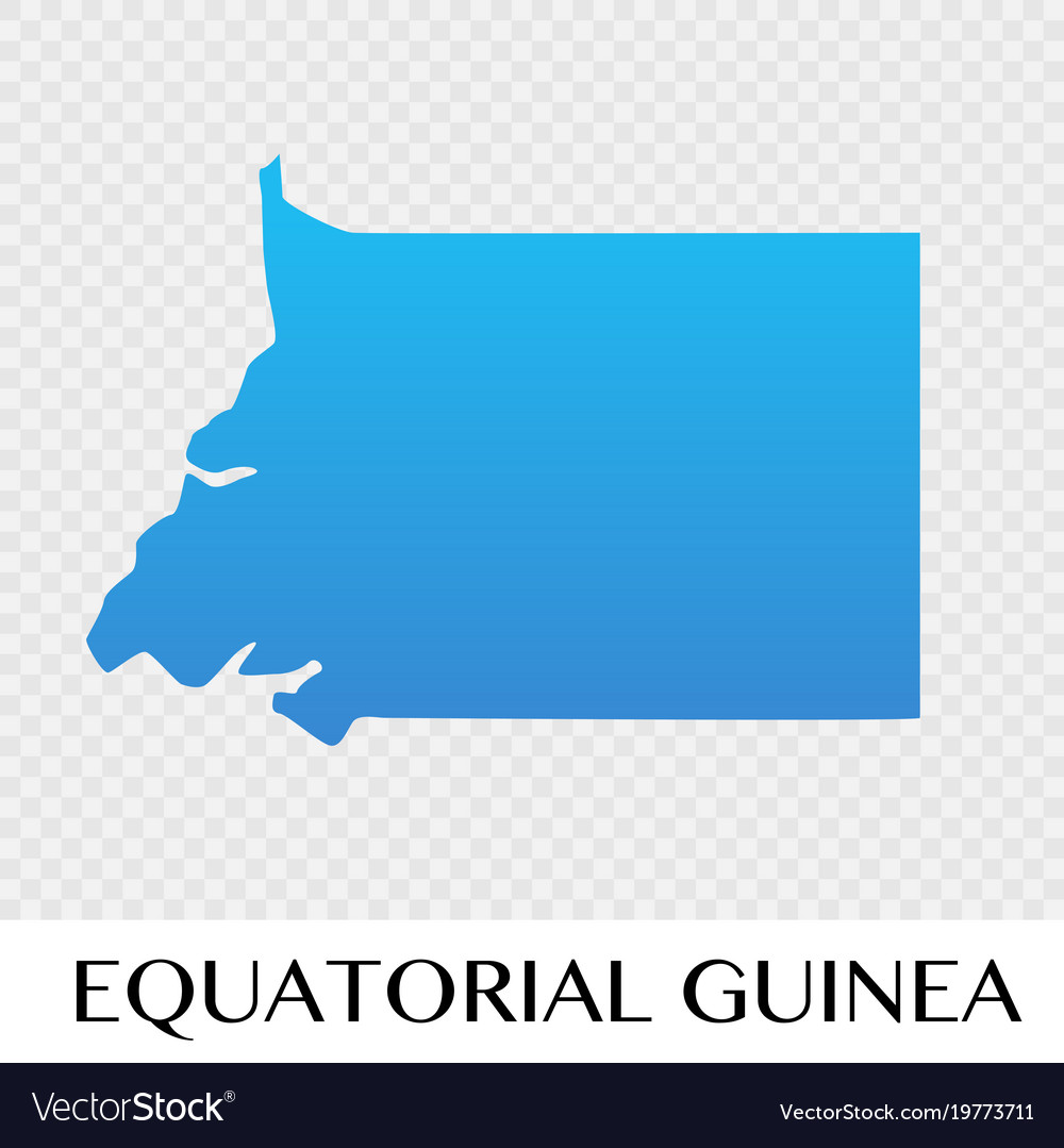 Equatorial guinea map in africa continent Vector Image