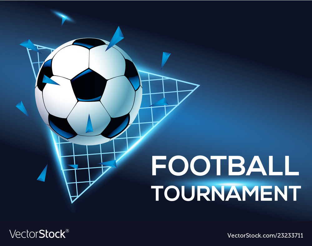Football tournament with blue background template