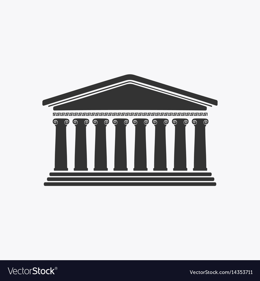 Greece facade historic building vector image