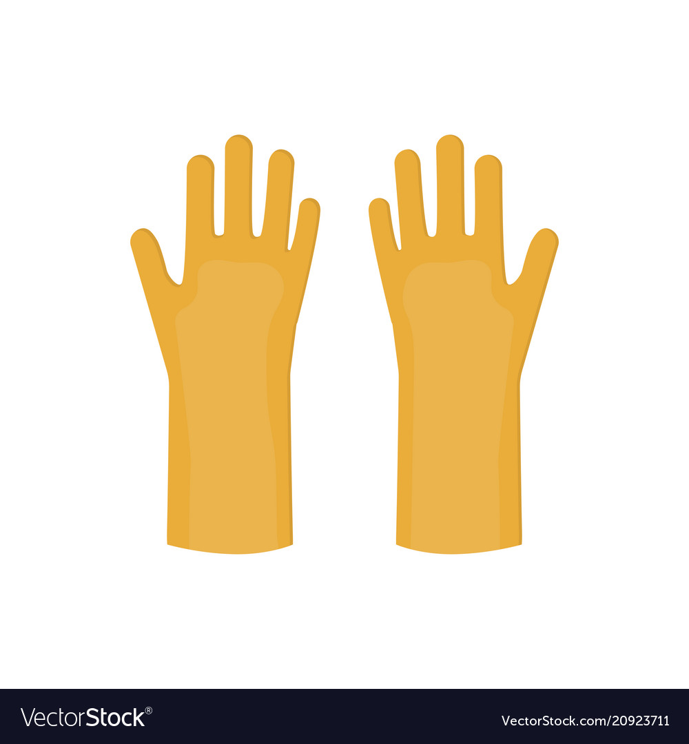Latex gloves cartoon glove icon