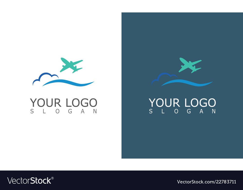 Plane travel logo