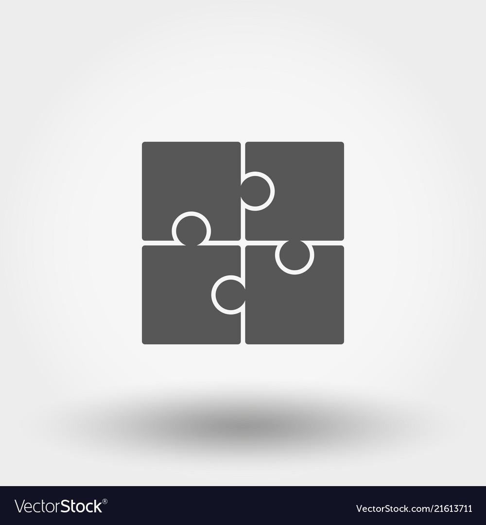 Puzzle icon flat