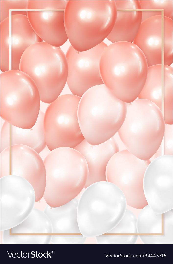 3d realistic balloon background pastel