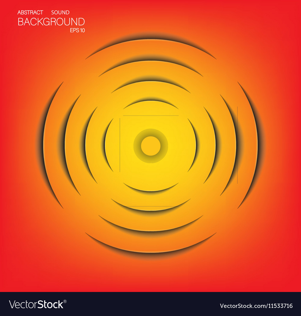 Abstract sound wave technology background vector image