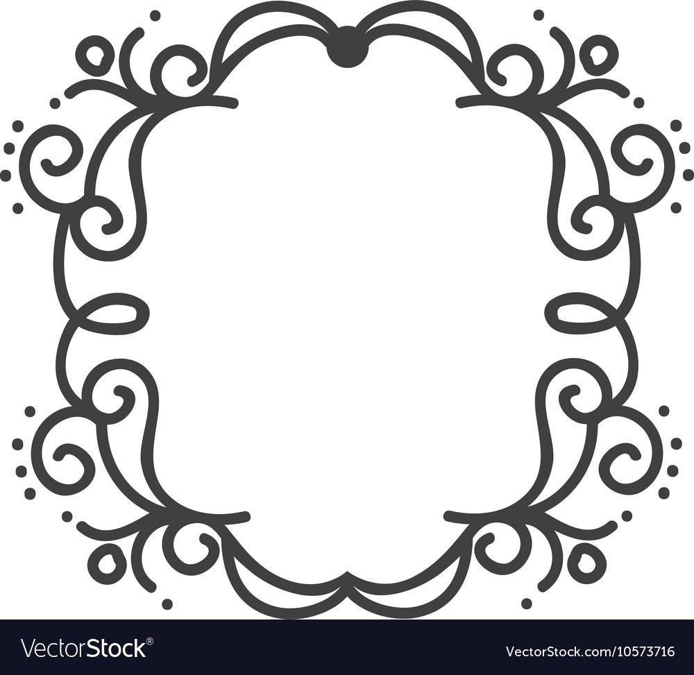 Border frame ornament Royalty Free Vector Image