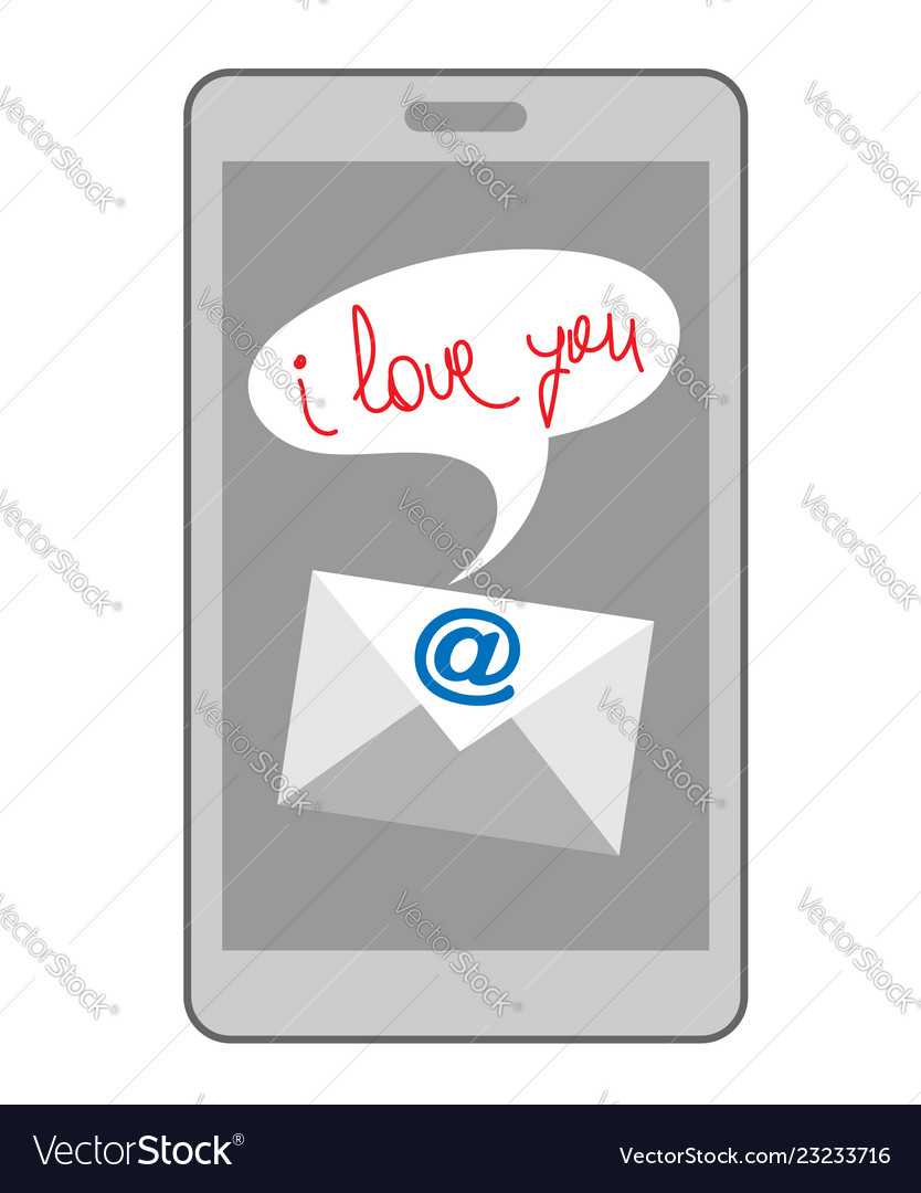 Email i love you on mobile