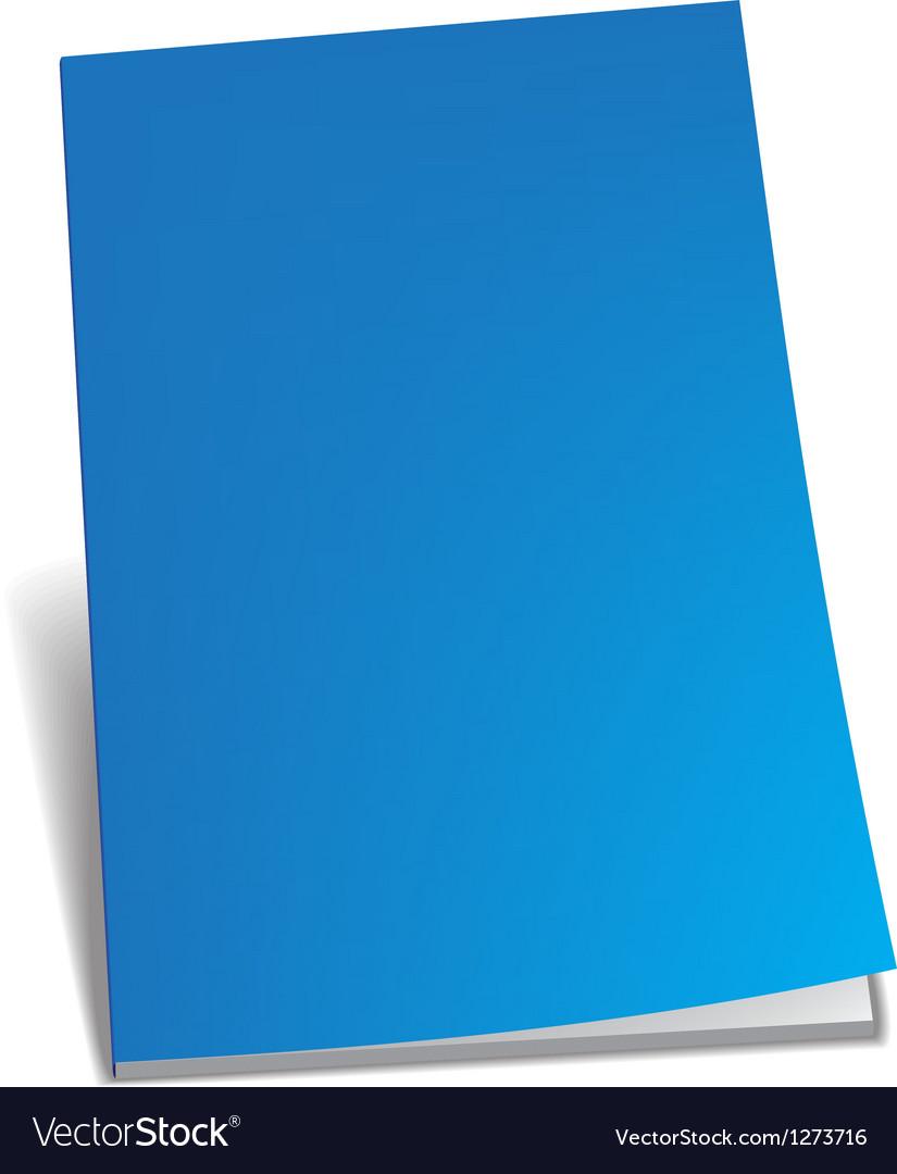 Empty blue brochure