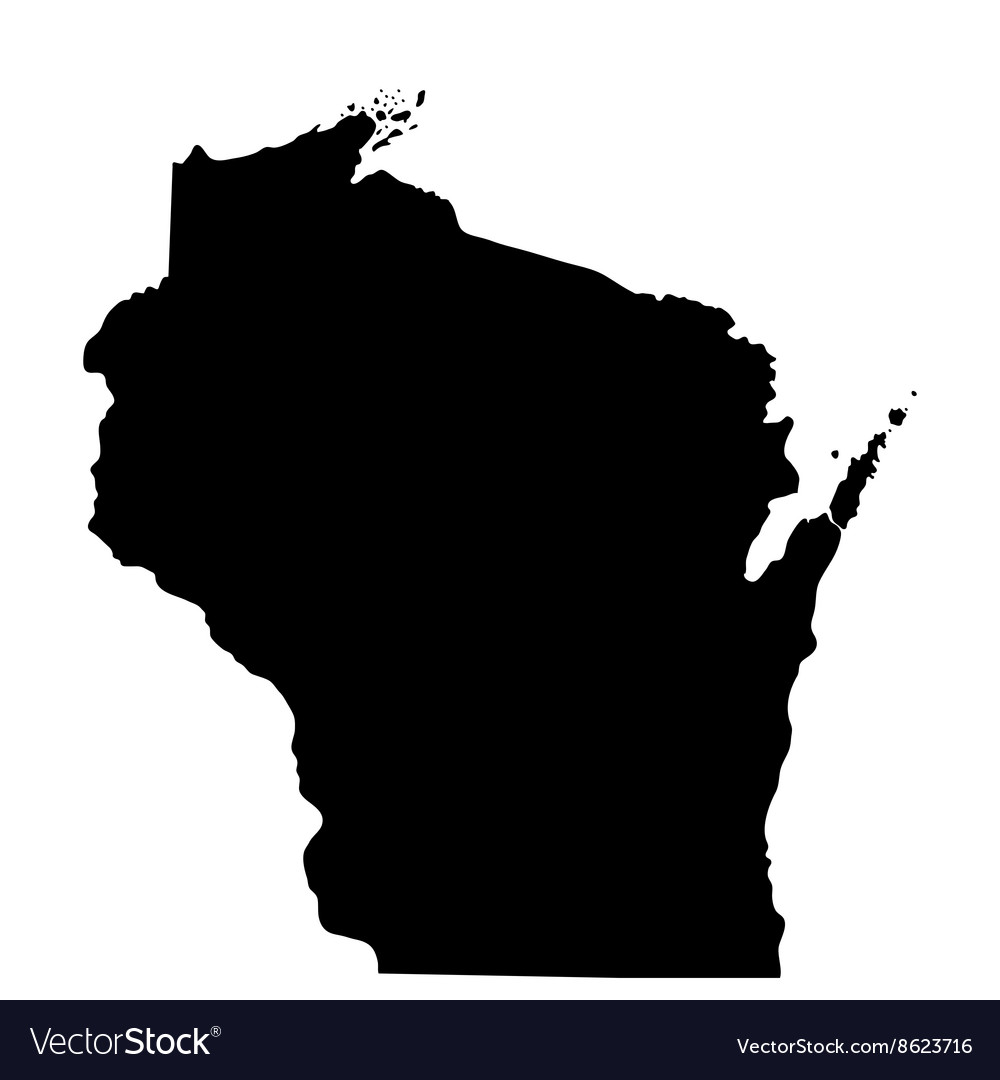 Map us state wisconsin
