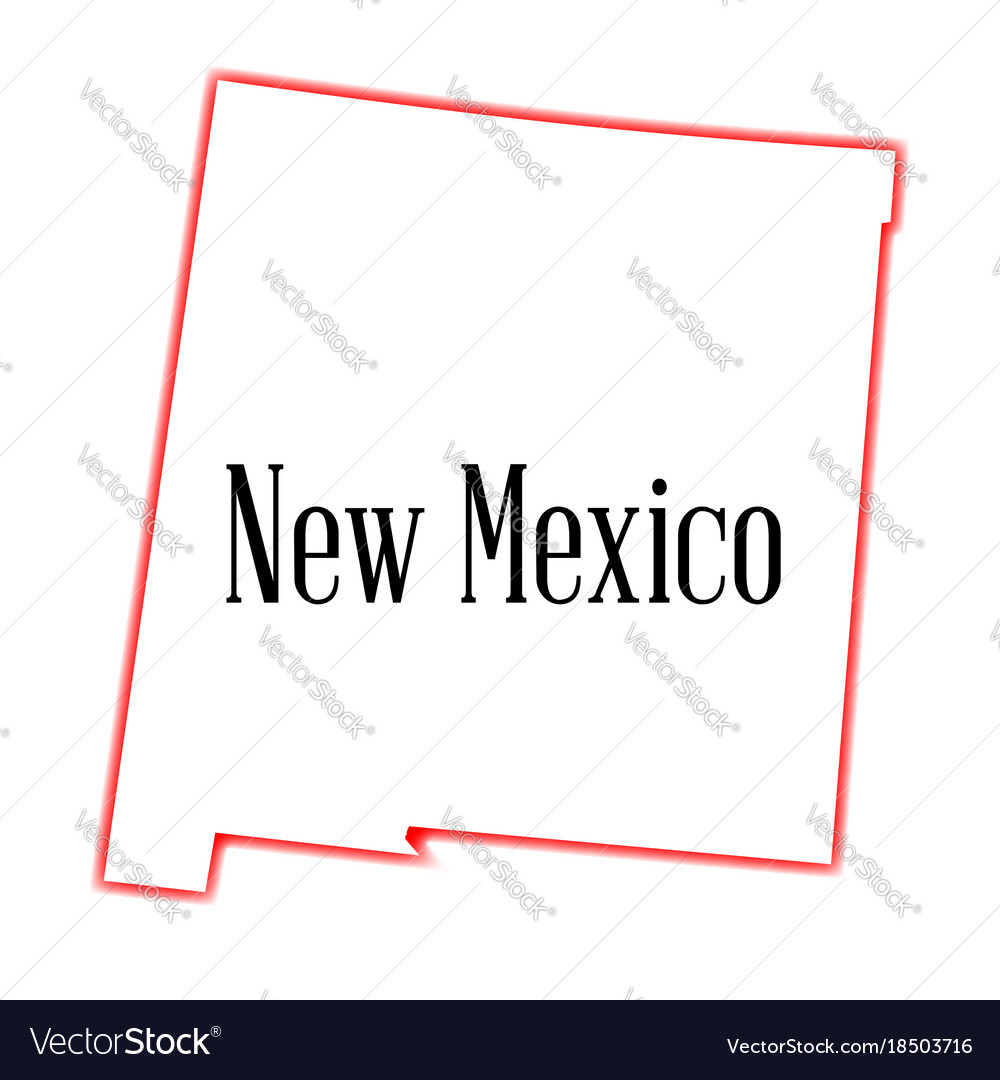 New mexico state outline map vector image