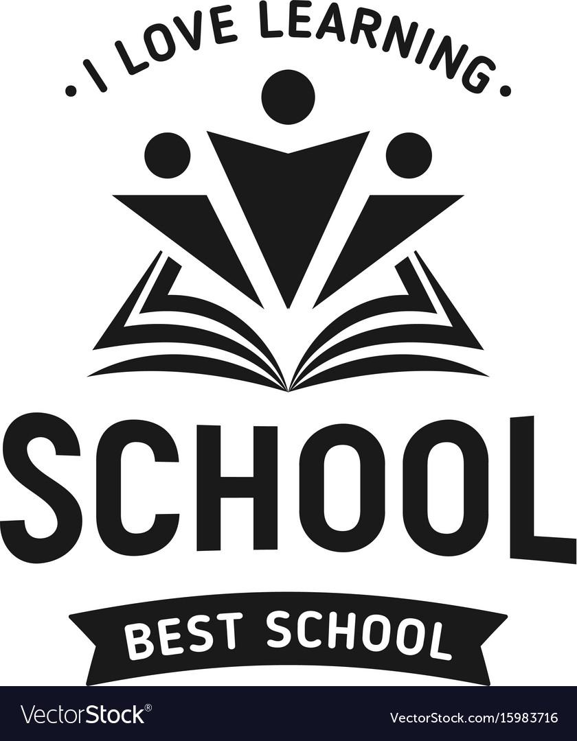 School logo monochrome vintage style