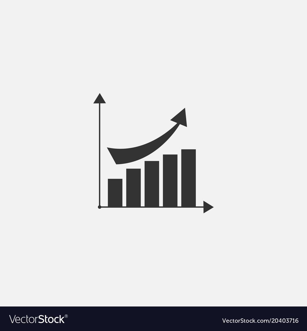 Symbol of diagram web line icon vector image