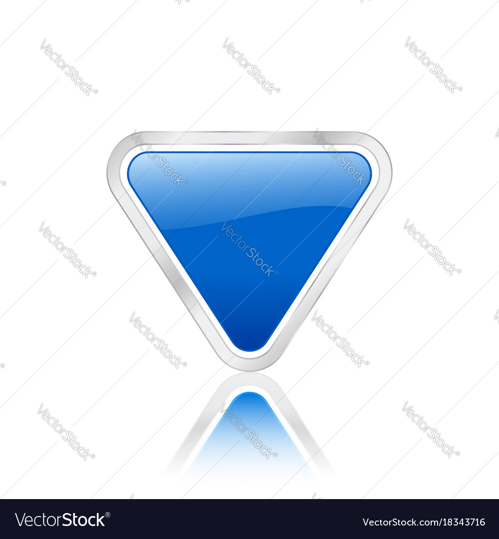 Triangular icon blue vector image