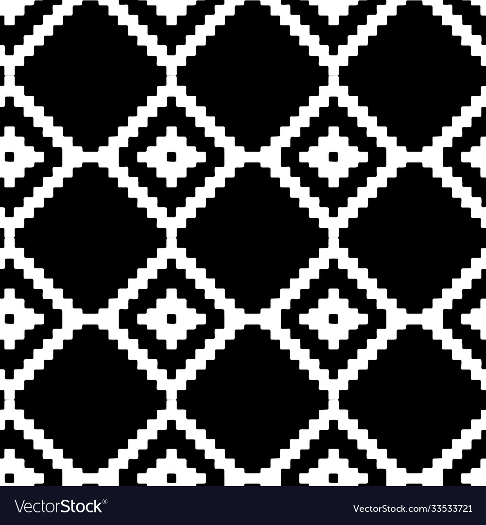 Abstract seamless pattern with black and