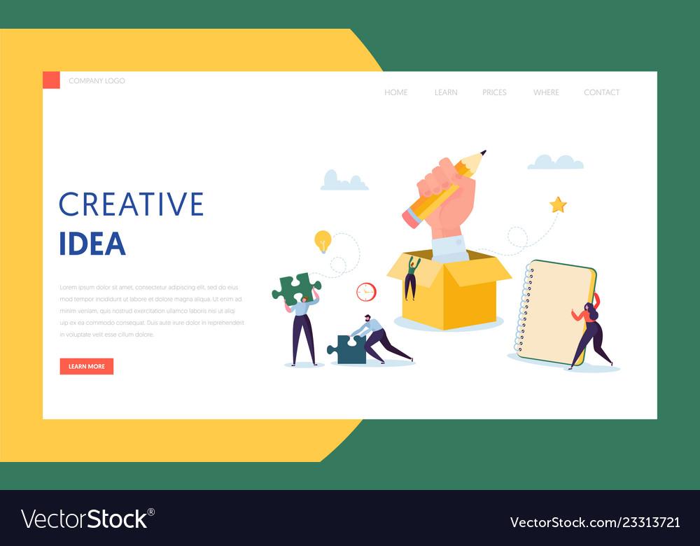 Creative idea business technology landing page