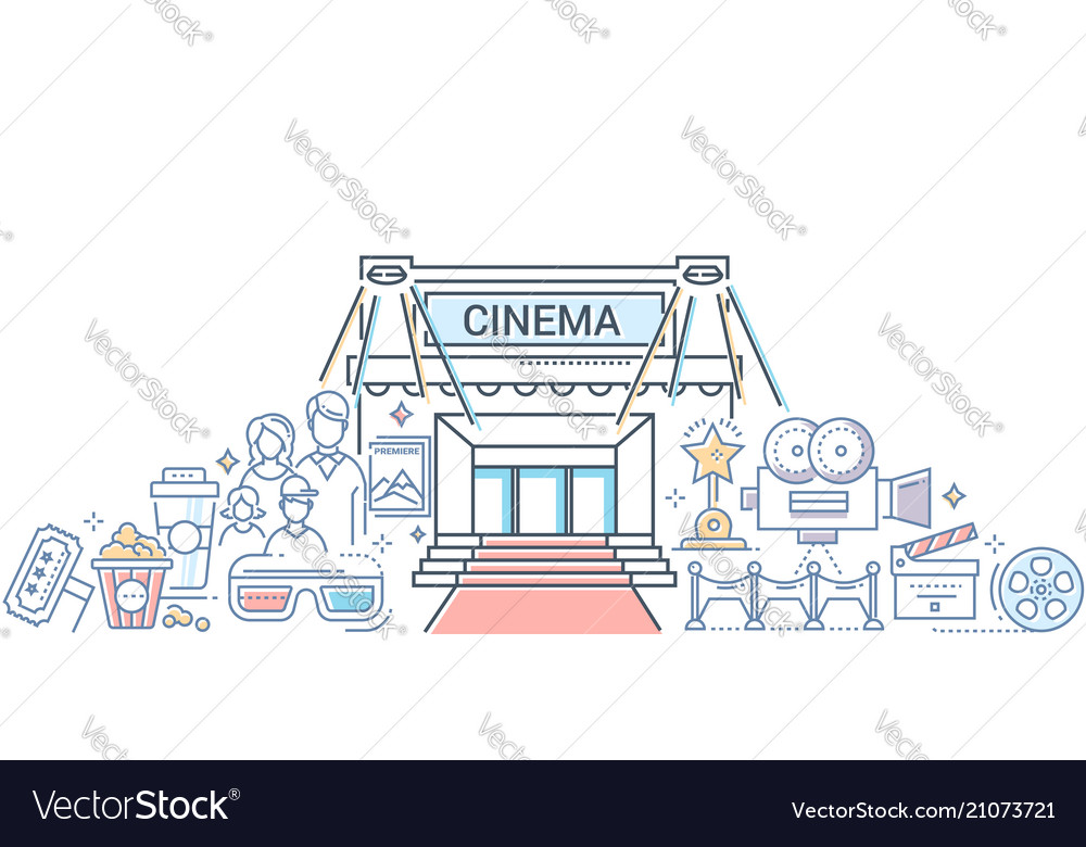 Film festival - modern line design style