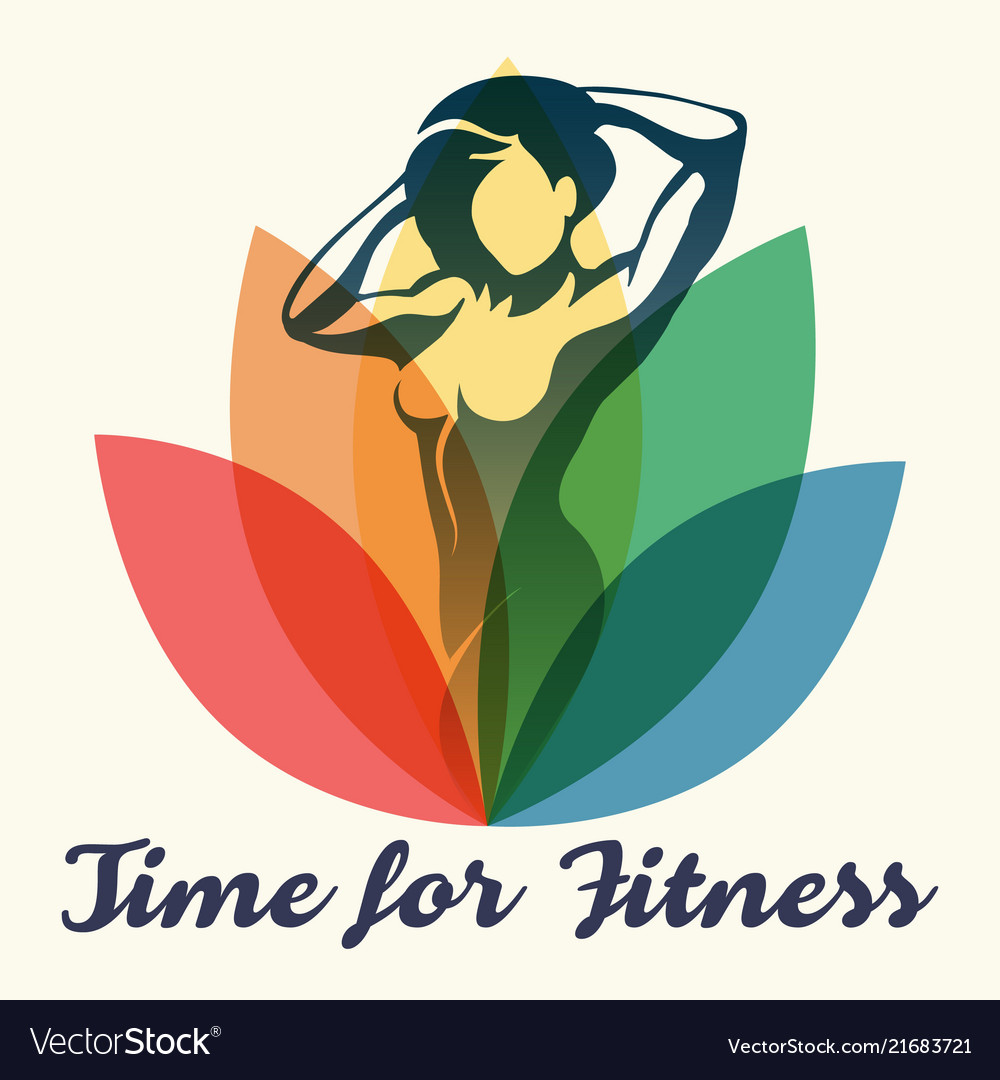 Fitness poster with slogan time to fitness