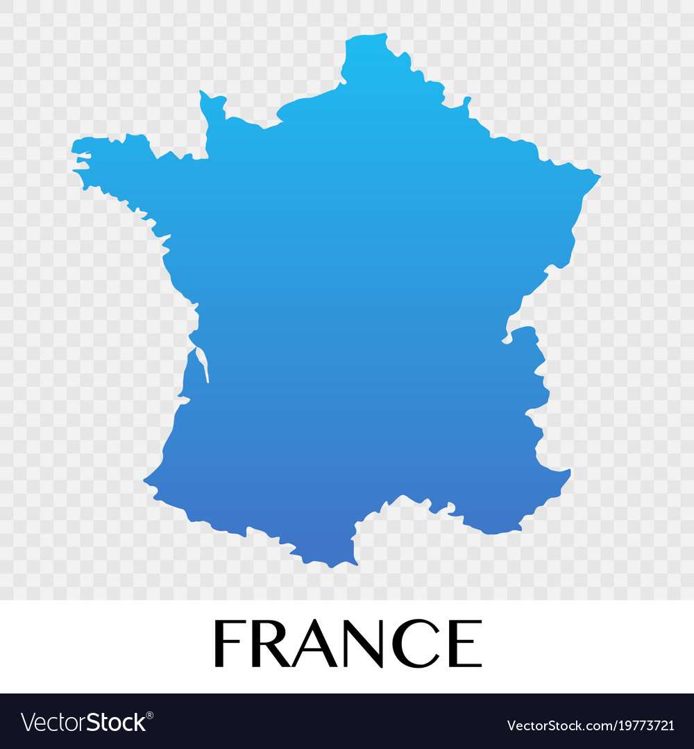 France On A Map Of Europe.France Map In Europe Continent Design