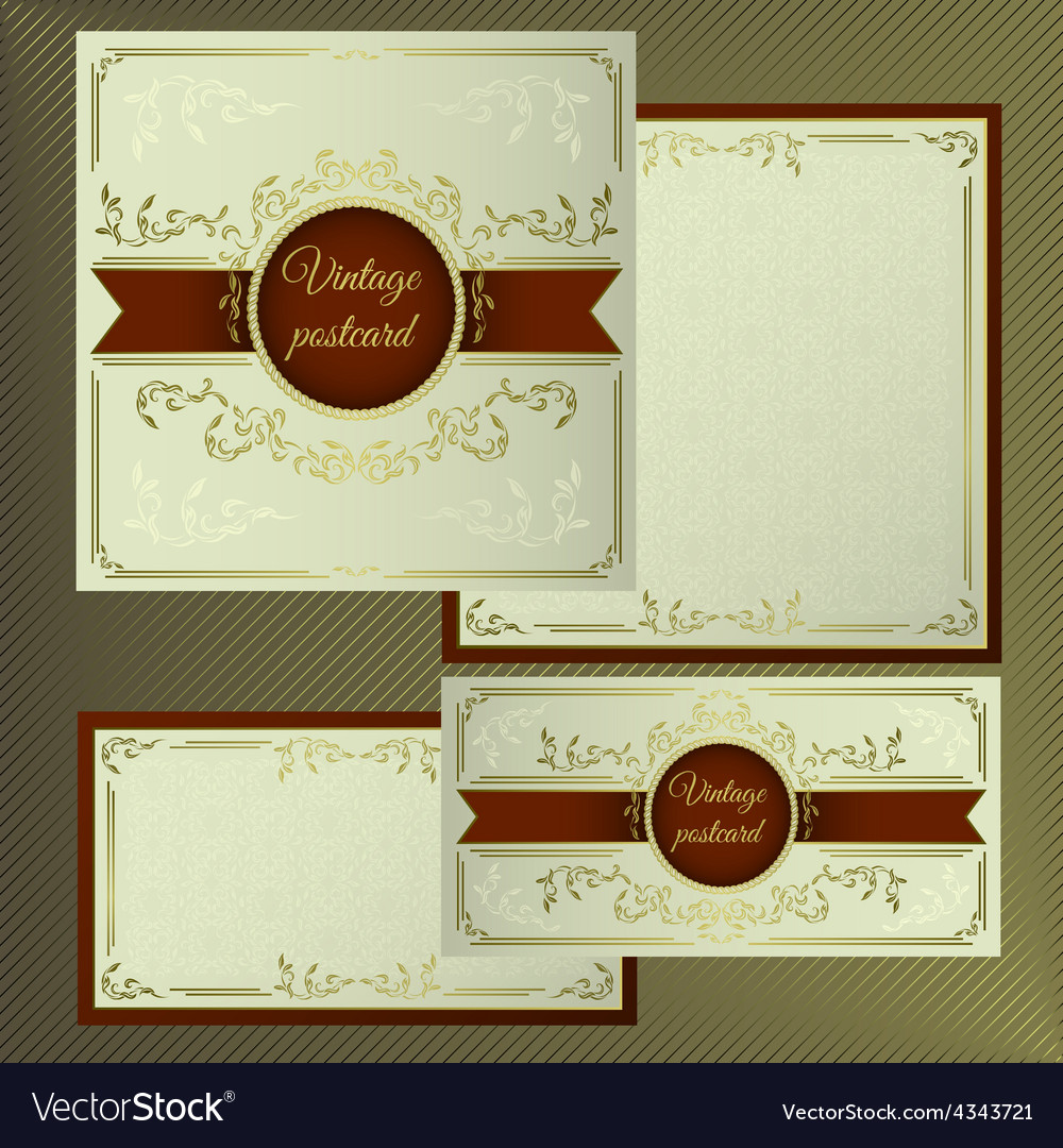 Greeting and invitation cards Cover with vintage