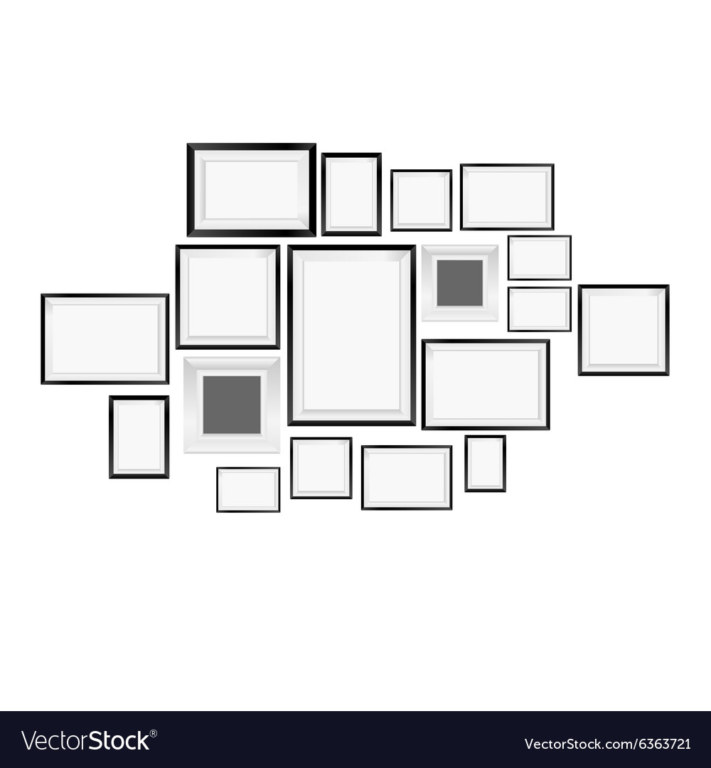 Picture frame art vector image