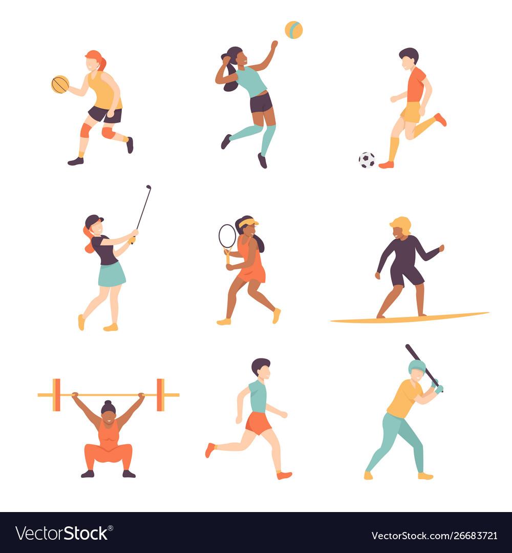 Sport people set