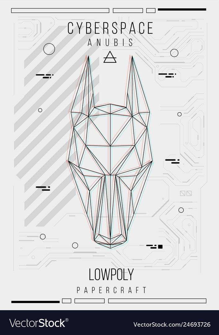 Abstract low poly template poster with poligonal