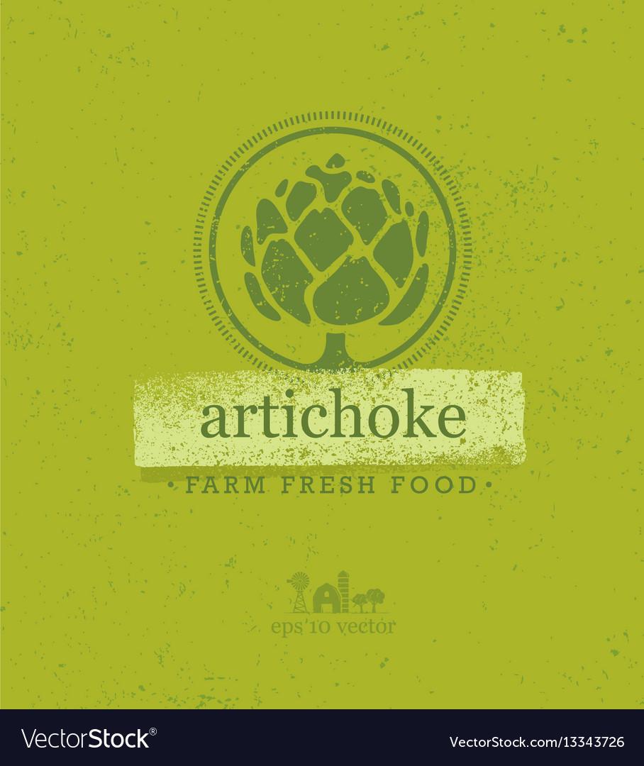 Artichoke farm fresh food eco green design