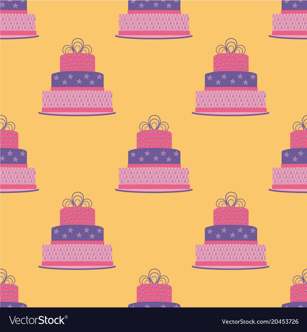 Birthday Cake Seamless Pattern Vector Image On Vectorstock