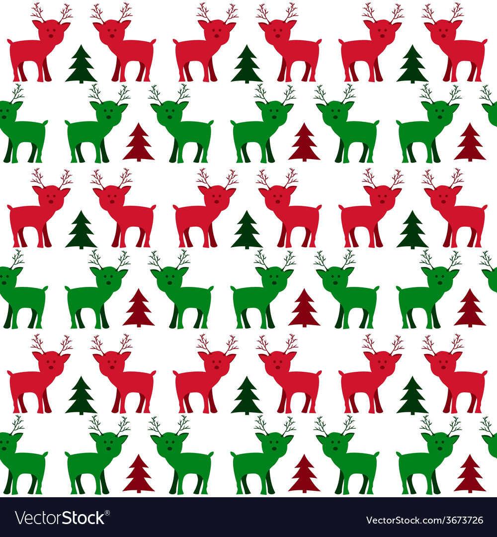 Christmas Holiday Seamless Pattern with Little