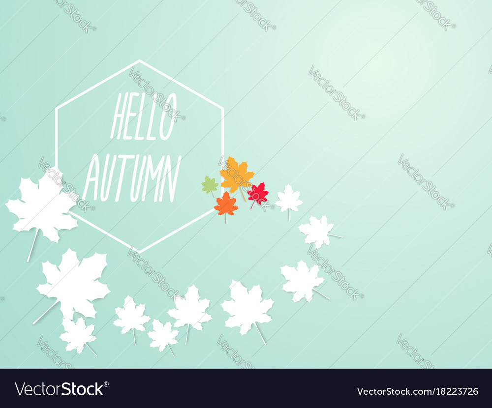 Hello autumn abstract nature background