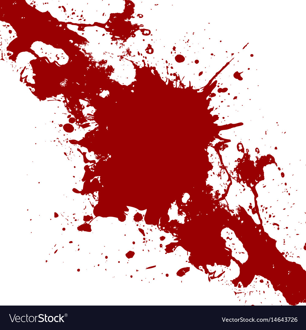 Ink Red Paint Splatter Background Vector Image