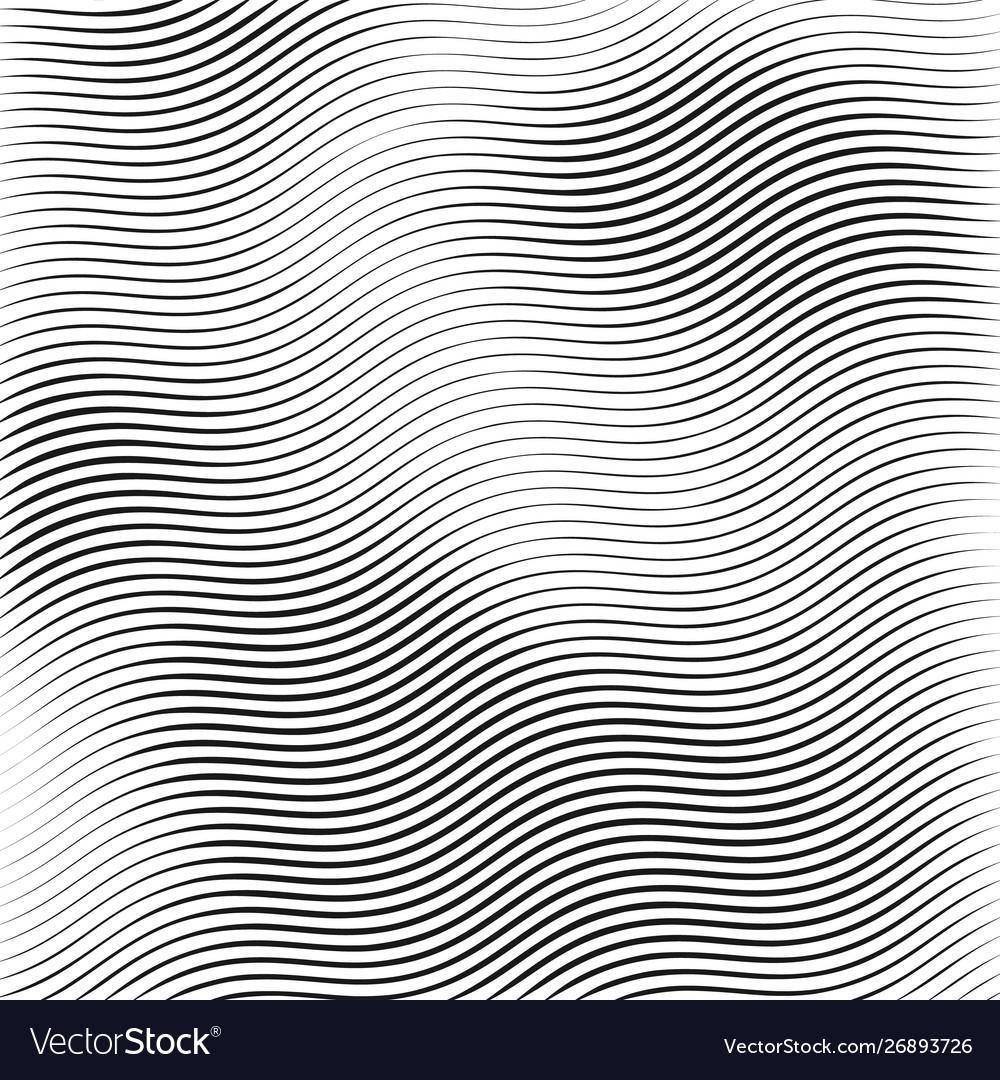 Stripe wavy lines monochrome wavy texture