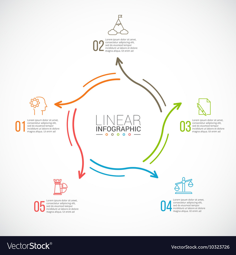 Thin line flat element for infographic