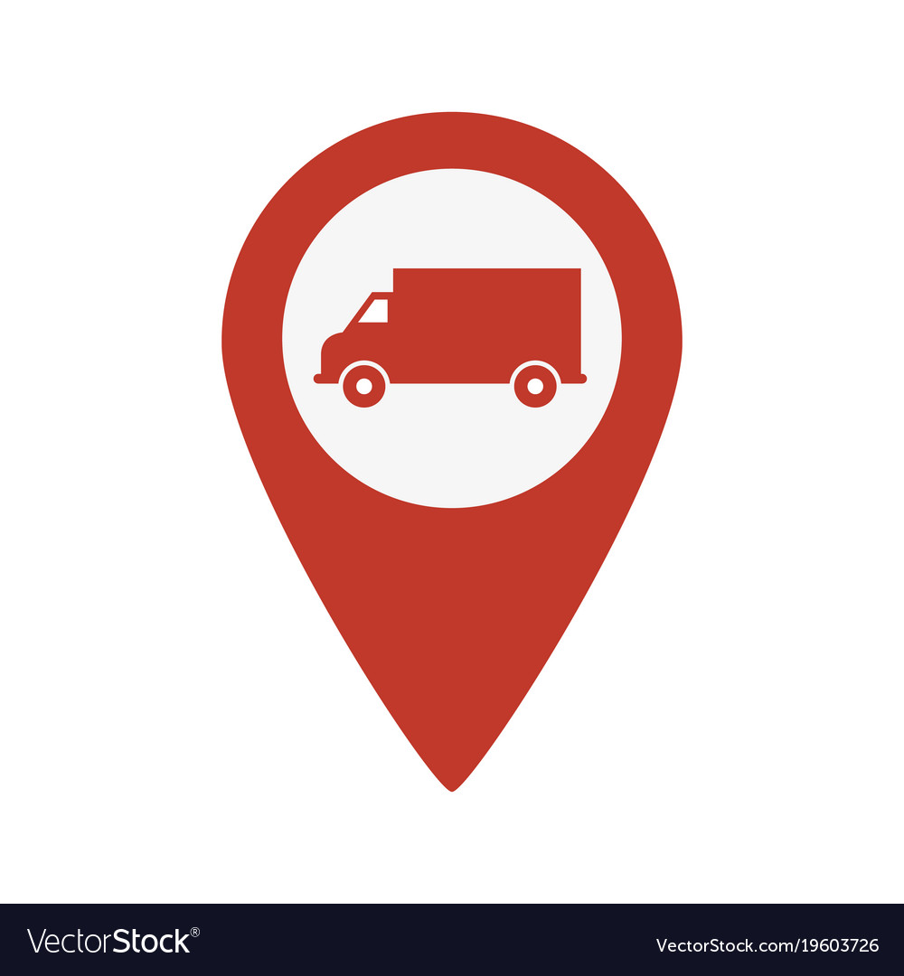 truck map pointer icon royalty free vector image