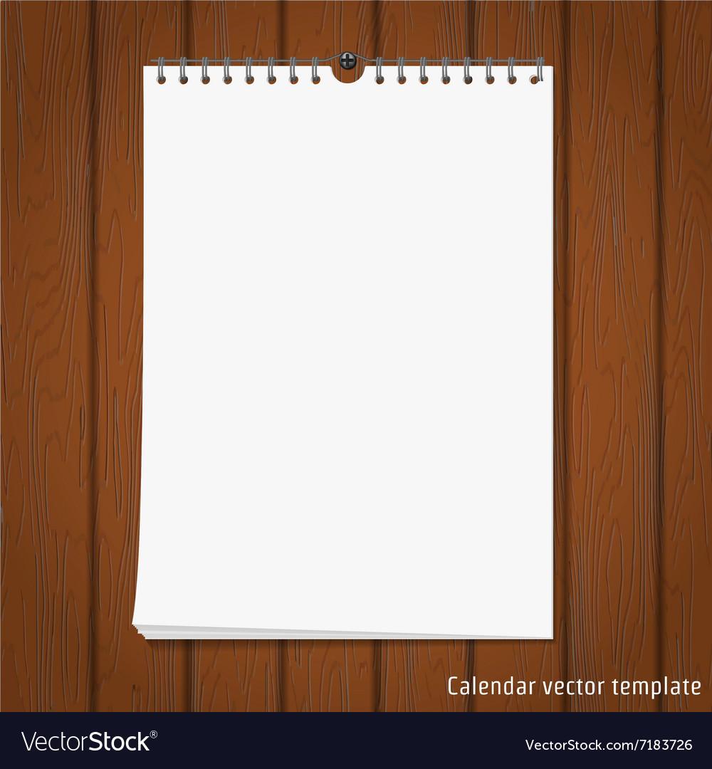 Wall Calendar mock up