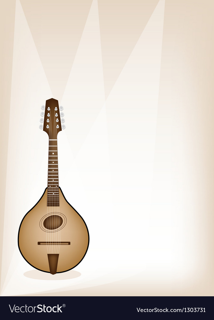 A Beautiful Antique Mandolin on Brown Stage
