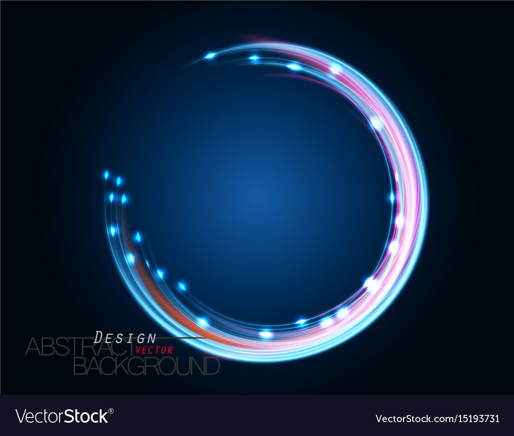 Abstract Neon Lighting Curve Scene