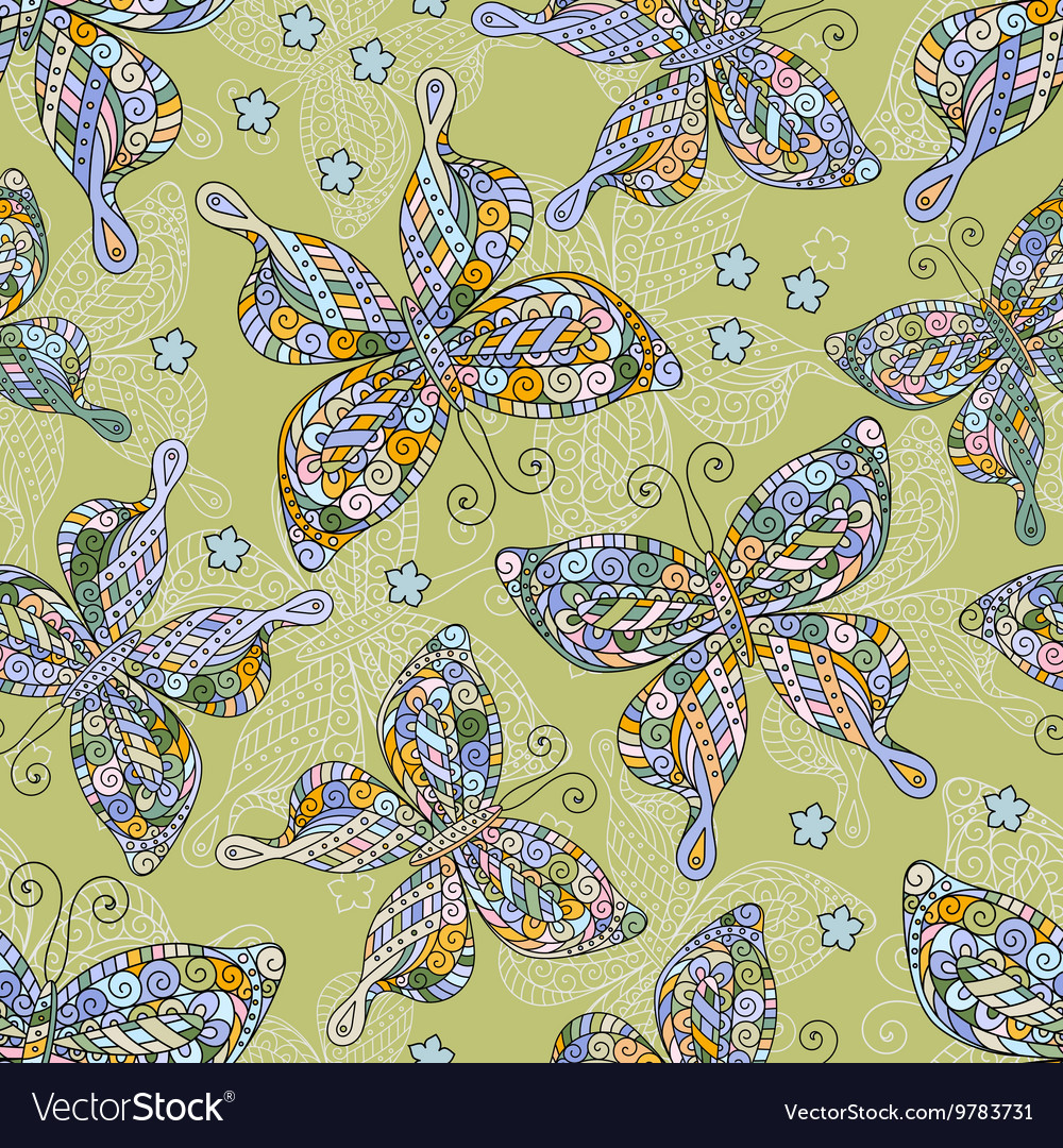 Fashion Butterflies pattern Colorful objects on
