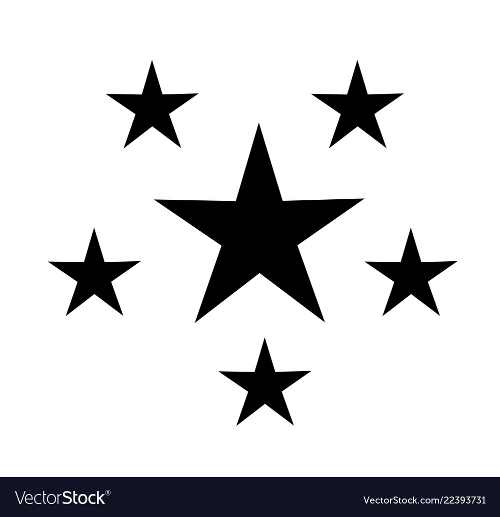 Five stars icon on white background five stars