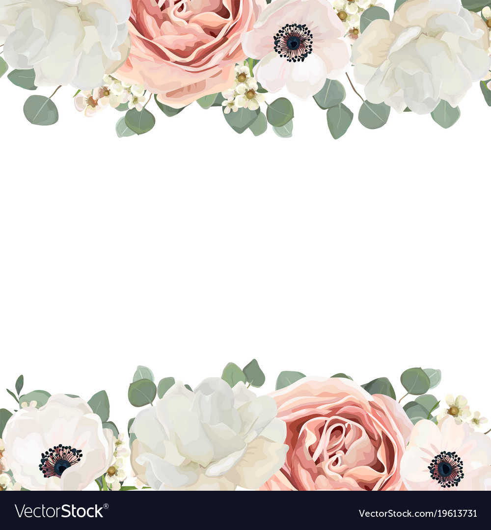 Floral card design with rose flower bouquet Vector Image