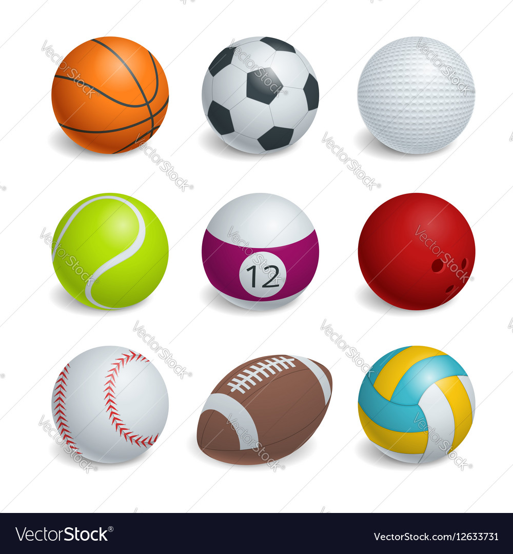 Isometric Sports Balls Set
