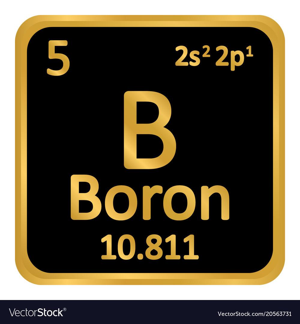 Periodic table element boron icon royalty free vector image periodic table element boron icon vector image urtaz Images