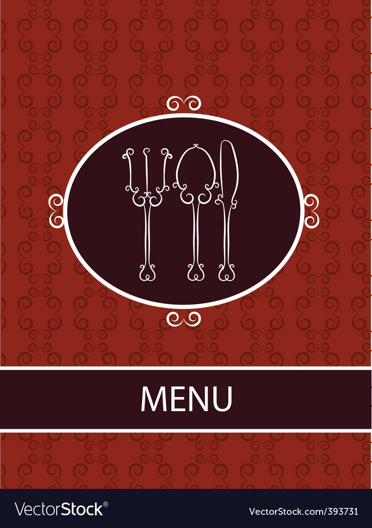 Restaurant dinner menu vector image