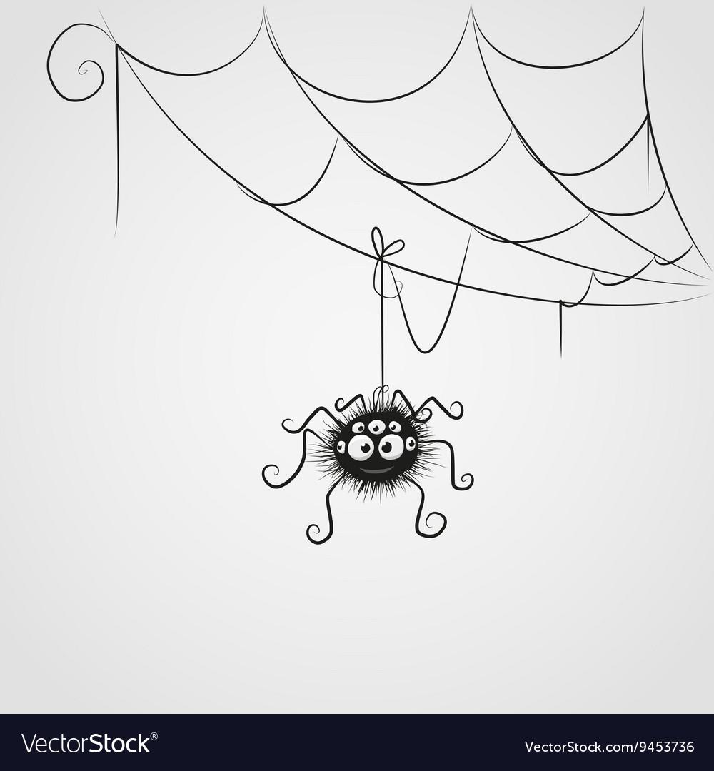 Cute spider vector image
