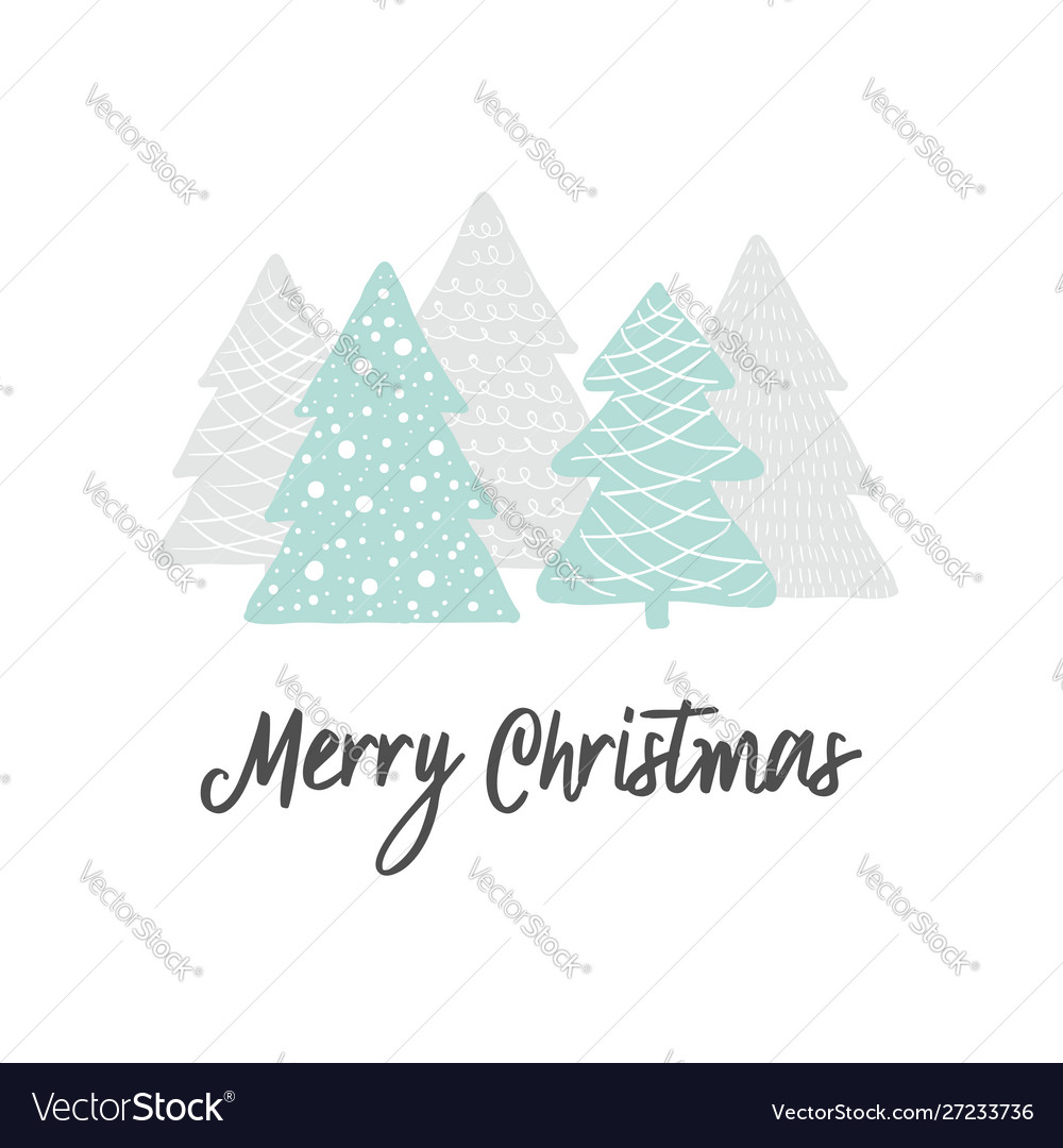 Scandinavian christmas greeting card forest